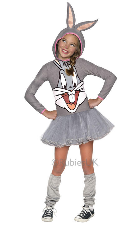 Looney Tunes Bugs Bunny Girls Hooded  Thumbnail 1
