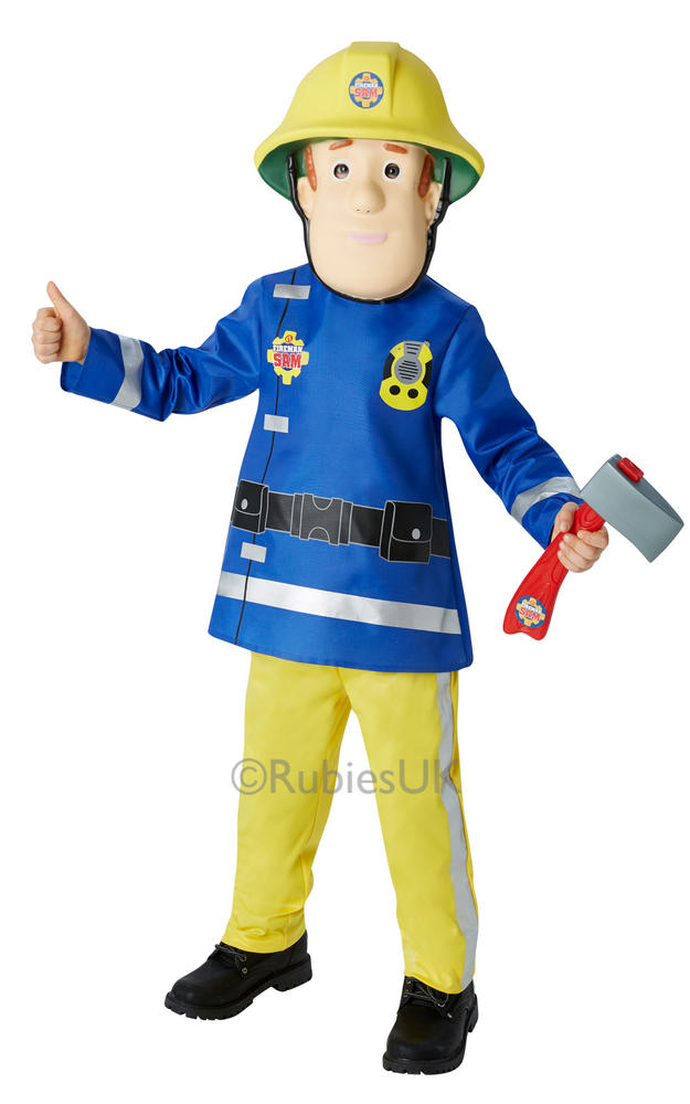 SALE! Kids TV Hero Firman Sam Uniform Boys Fancy Dress Childs Costume Outfit