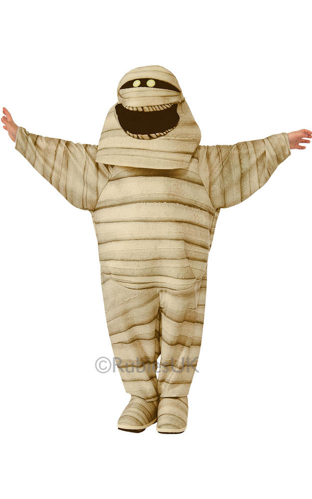 Kids Hotel Transylvania 2 Mummy Costume Halloween Fancy Dress Monster Outfit