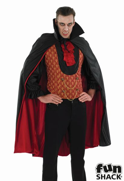 SALE! Adult Gothic Vampire Count Mens Halloween Party Fancy Dress Costume Outfit Thumbnail 1