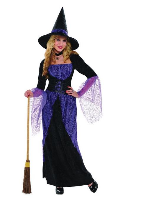SALE Adult Pretty Potion Witch Ladies Halloween Party Fancy Dress Costume Outfit Thumbnail 1