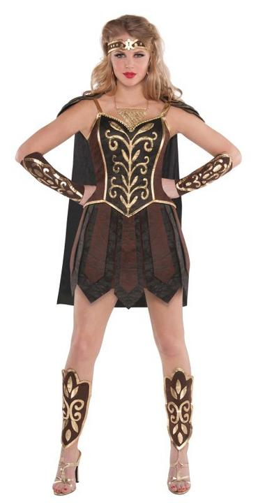 Ladies Warrior Princess Fancy Dress Costume Thumbnail 1