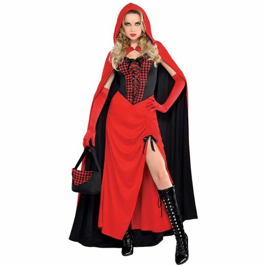 Deluxe Sexy Red Riding Hood Ladies Fancy Dress Costume Hen Party Outfit Thumbnail 1