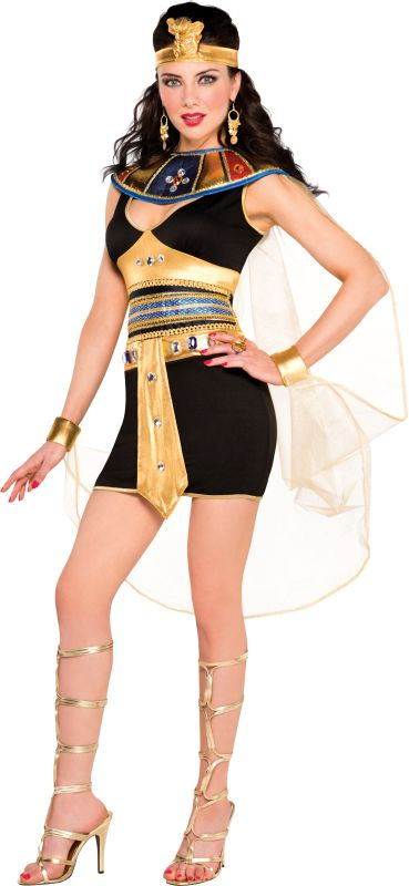Deluxe Sexy Queen Of The Nile Ladies Fancy Dress Costume Hen Party Outfit