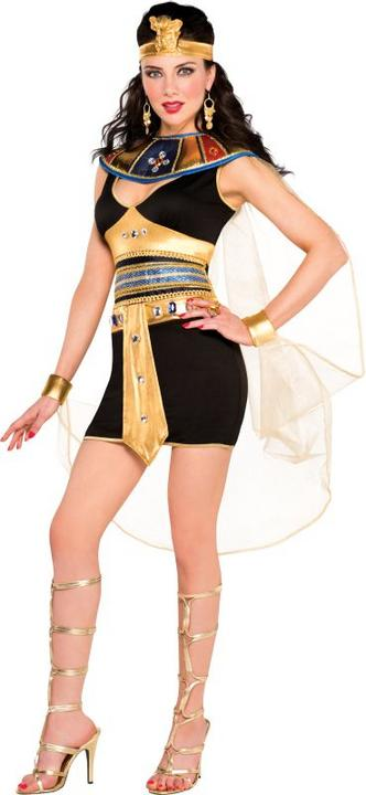 Deluxe Sexy Queen Of The Nile Ladies Fancy Dress Costume Hen Party Outfit Thumbnail 1