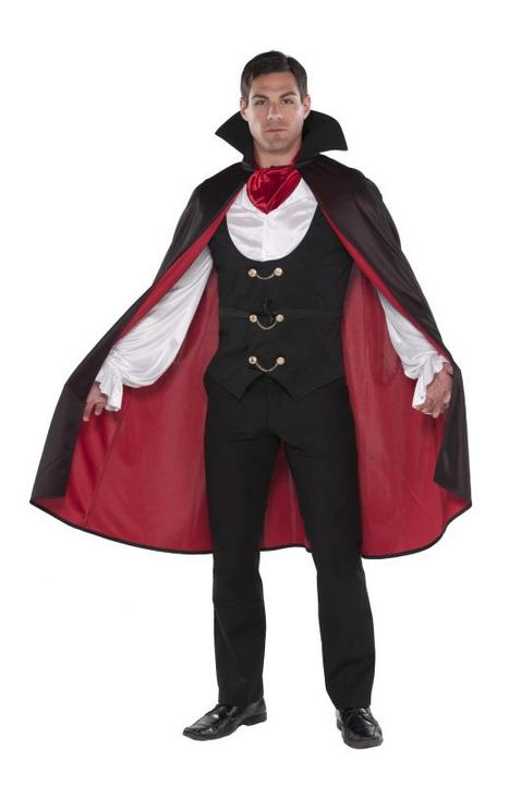 Adult Gothic Vampire Dracula Mens Halloween Party Fancy Dress Costume Outfit Thumbnail 1