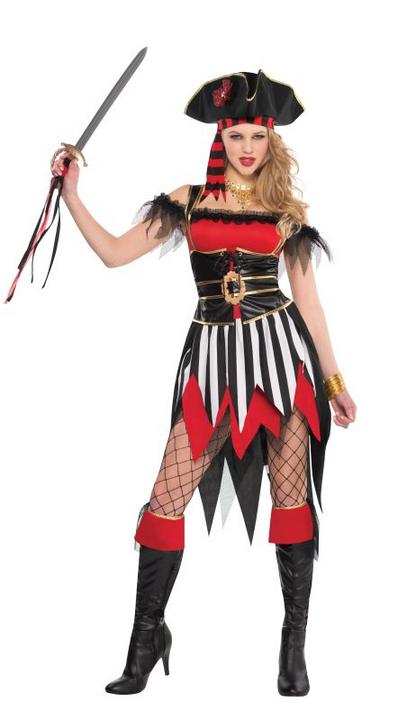 Deluxe Sexy Shipwreck Beauty Pirate Ladies Fancy Dress Costume Hen Party Outfit Thumbnail 1