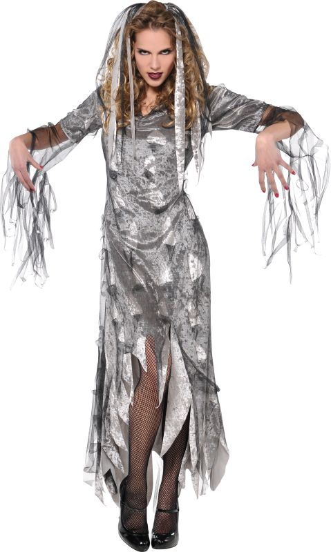 Adult Sexy Graveyard Zombie Ladies Halloween Party Fancy Dress Costume Outfit