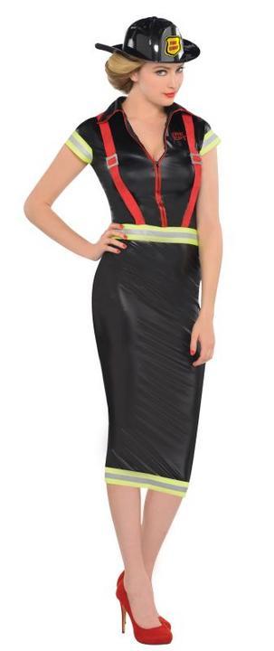 Pin Up Firegirl Fancy Dress Costume  Thumbnail 1