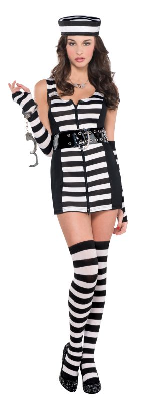 Women's Guilty As Charged Fancy Dress Costume