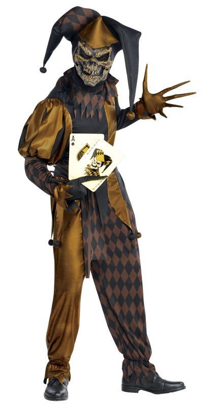 Adult Evil Jokers Wild Zombie Mens Halloween Horror Fancy Dress Costume Outfit