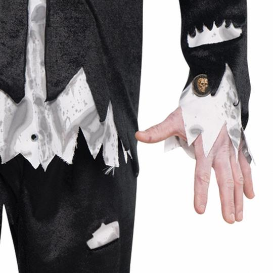 Adult Walking Dead Zombie Groom Mens Halloween Horror Fancy Dress Costume Outfit Thumbnail 2
