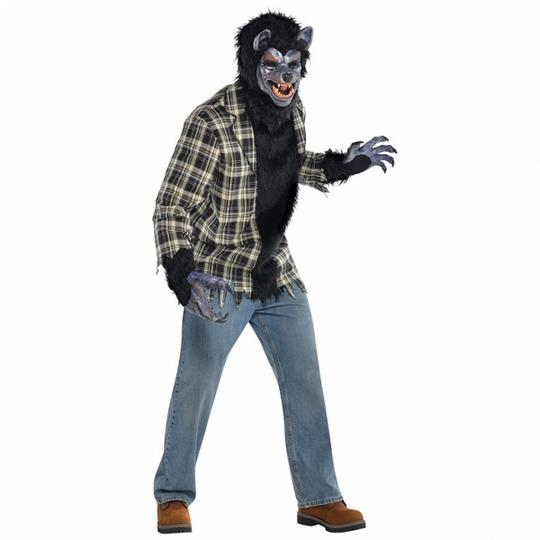 SALE Adult Rabid Werewolf Mens Halloween Horror Fancy Dress Costume Party Outfit Thumbnail 1
