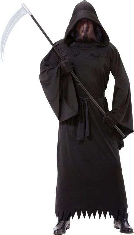 Adult Phantom Of Darkness Death Reaper Mens Halloween Fancy Dress Costume Outfit