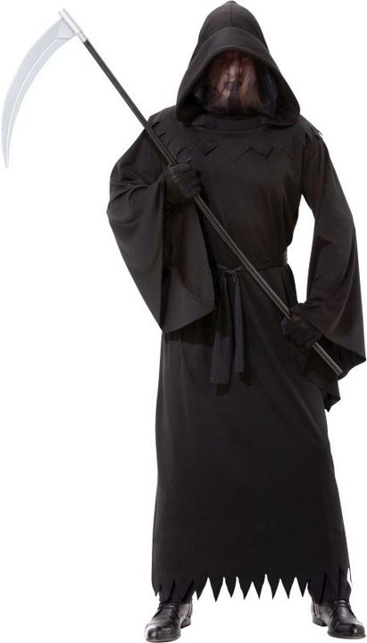 Adult Phantom Of Darkness Death Reaper Mens Halloween Fancy Dress Costume Outfit Thumbnail 1
