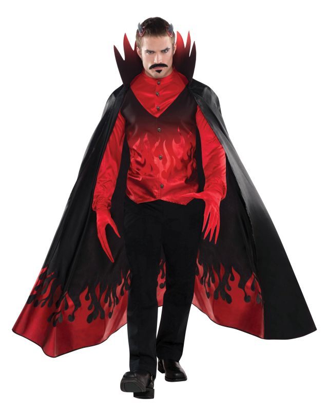 Adult Demon Devil Diablo Mens Halloween Horror Fancy Dress Costume Party Outfit