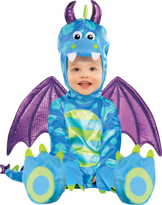 Kids Super Cute Little Dragon Girls / Boys Fancy Dress Childs Costume Outfit Thumbnail 1