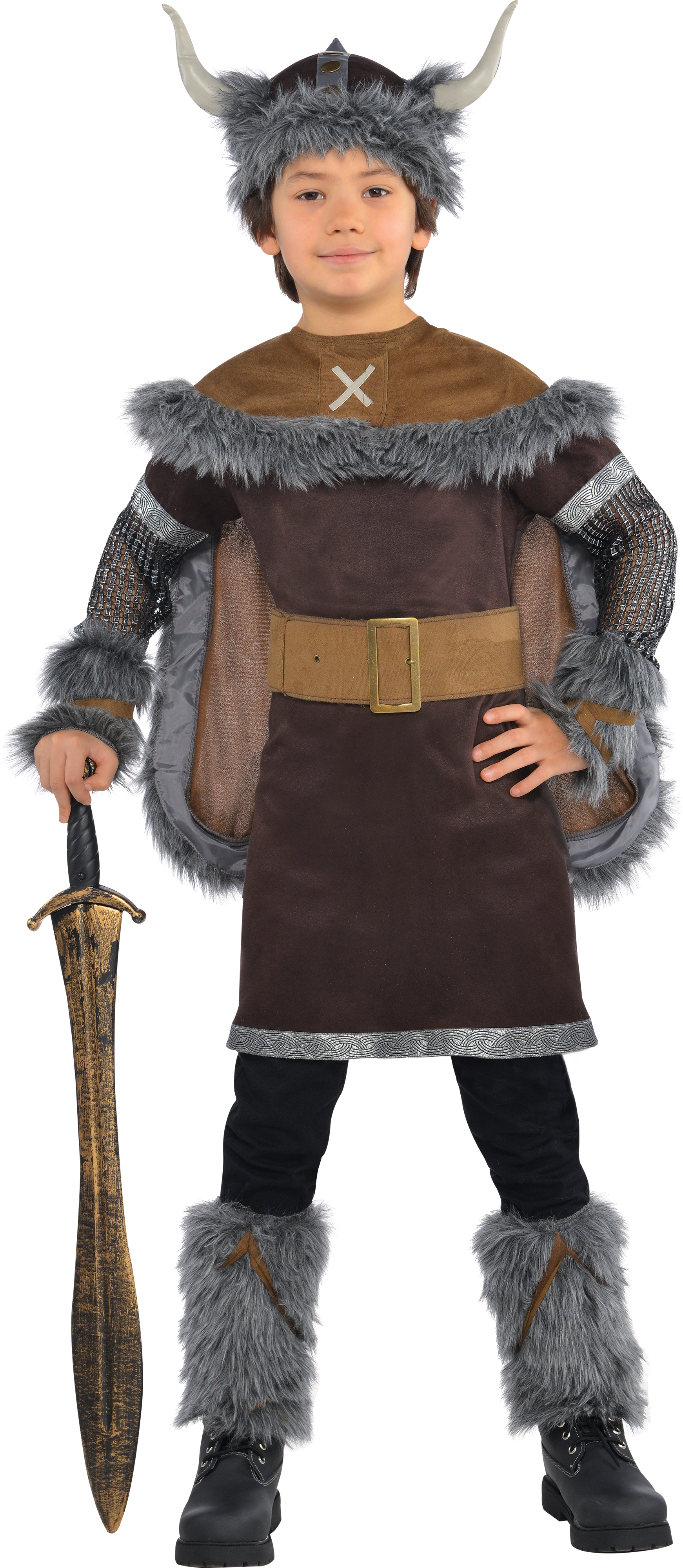 Kids Medieval Viking Warrior Boys Book Week Fancy Dress Childs Costume Outfit | General Costumes ...