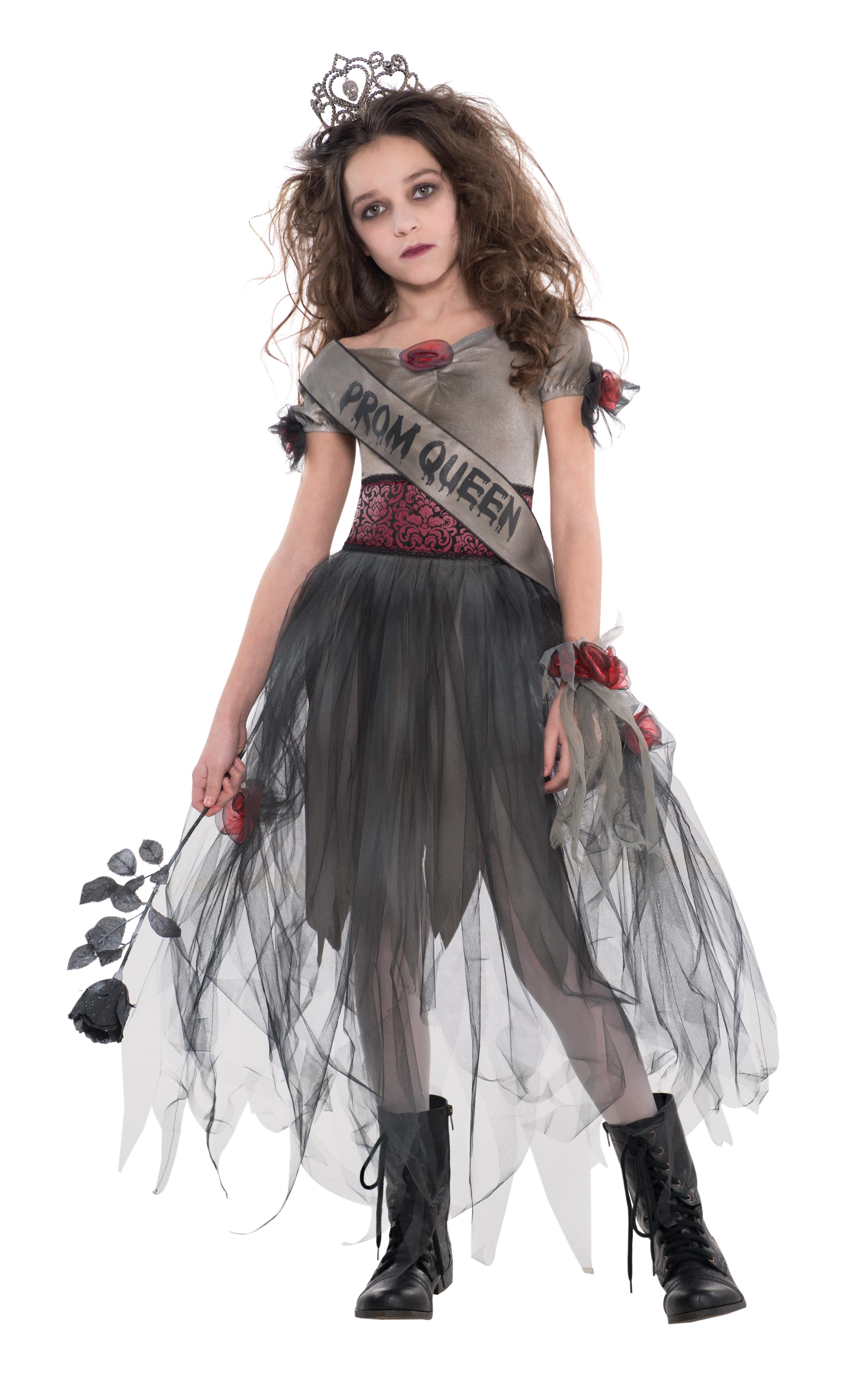 Kids Zombie Prom Queen Girls Halloween Party Fancy Dress Teen ...