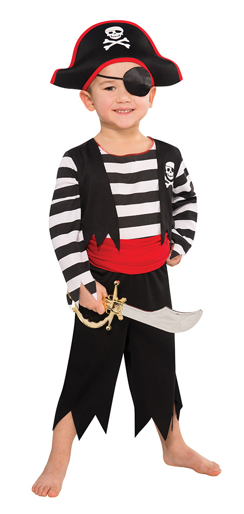 Boys Deckhand Pirate Fancy Dress Costume
