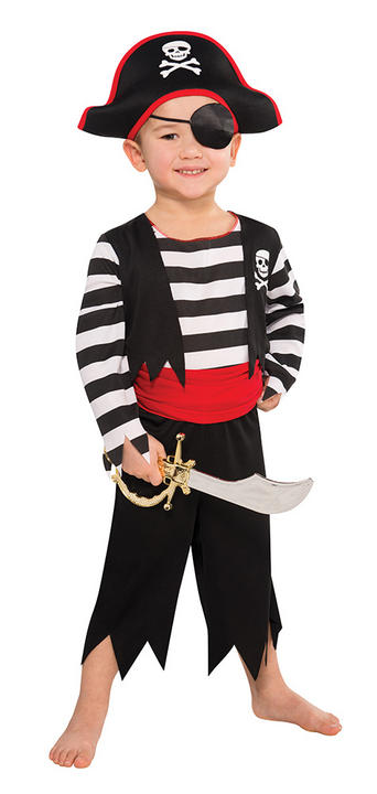 Boys Deckhand Pirate Fancy Dress Costume Thumbnail 1