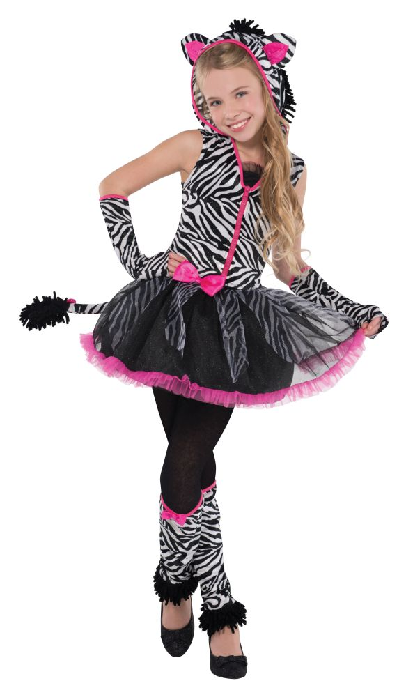 Girls Teen Sassy Stripes Fancy Dress Costume