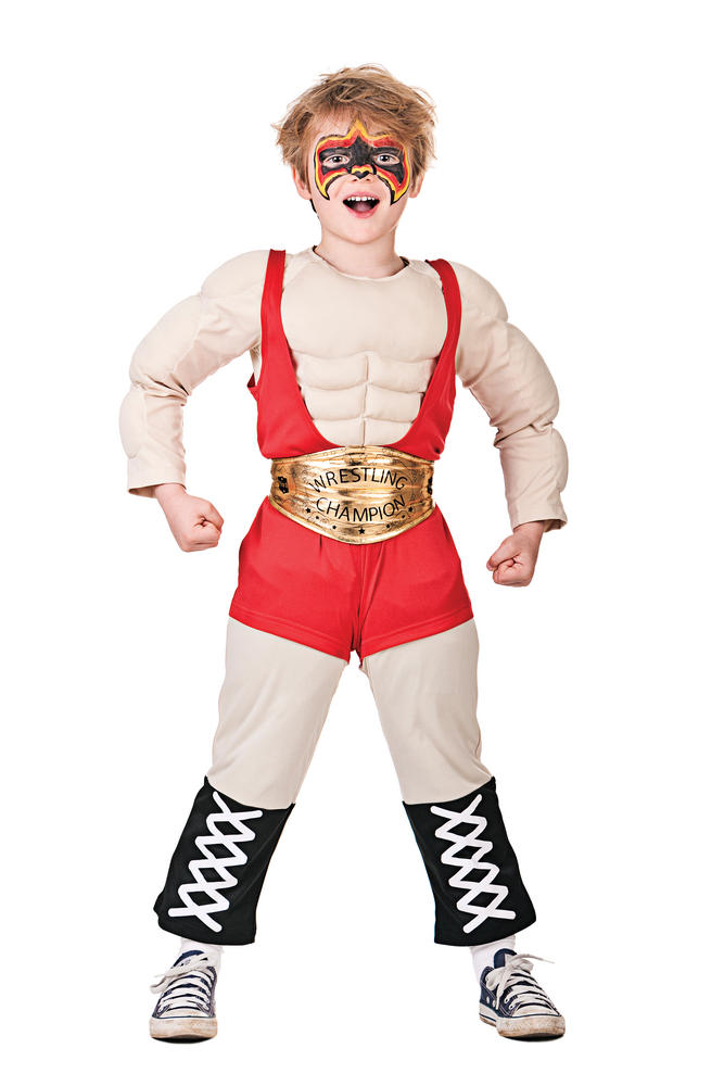 Boys Wrestler Fancy Dress Costume