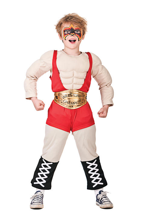Boys Wrestler Fancy Dress Costume Thumbnail 1
