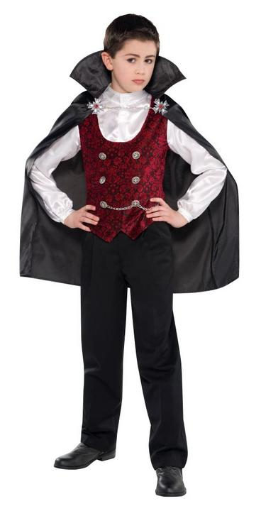 Teen Dark Gothic Vampire Boys Halloween Party Fancy Dress Childs Costume Outfit Thumbnail 1