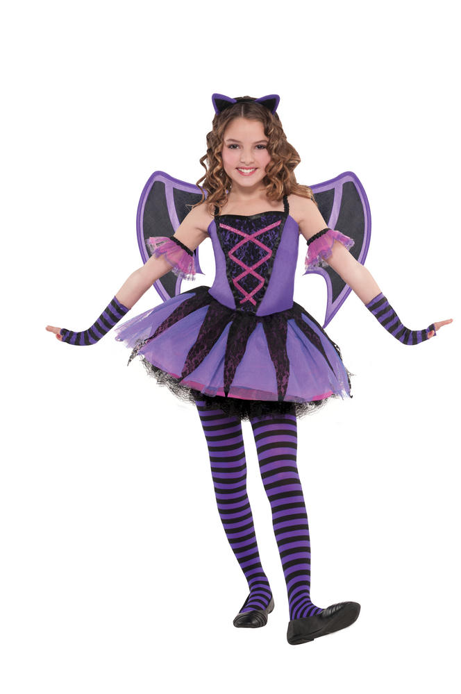 Kids Cute Ballerina Bat Girls Halloween Party Fancy Dress Childs Costume Outfit