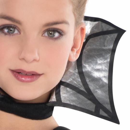 Kids Dark Vampire Countess Girls Halloween Fancy Dress Childs Costume Outfit Thumbnail 2