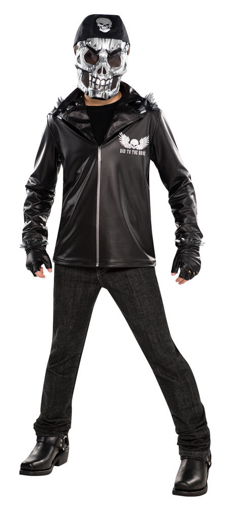SALE Teen Bad To The Bone Boys Halloween Horror Party Fancy Dress Costume Outfit