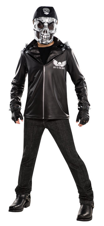 SALE Teen Bad To The Bone Boys Halloween Horror Party Fancy Dress Costume Outfit Thumbnail 1