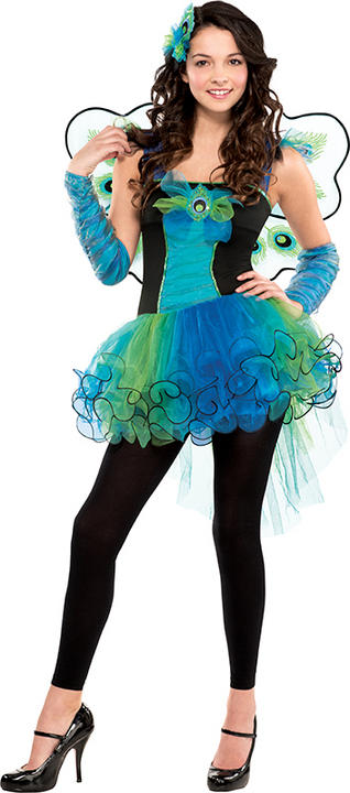 SALE! Teen Peacock Diva Girls Fancy Dress Costume Party Outfit Age 10 - 16 Thumbnail 1