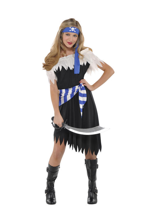 Girls Teen Shipwreck Cutie Pirate Fancy Dress Costume  Thumbnail 1