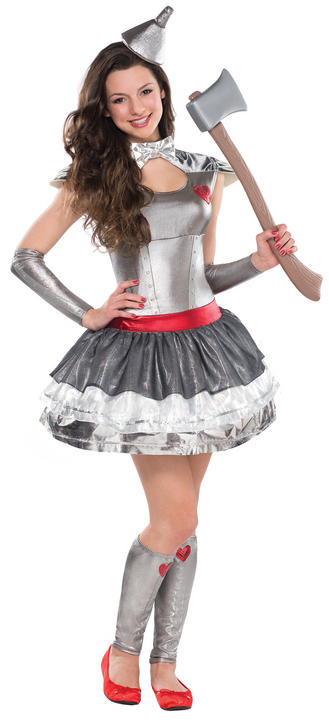 SALE! Teen Tinman Heartthrob Girls Fancy Dress Costume Party Outfit Age 10 - 16 Thumbnail 1