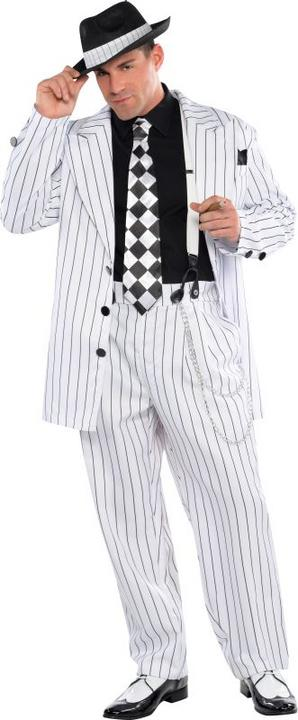 Men's Pinstripe Daddy Fancy Dress Costume Thumbnail 1