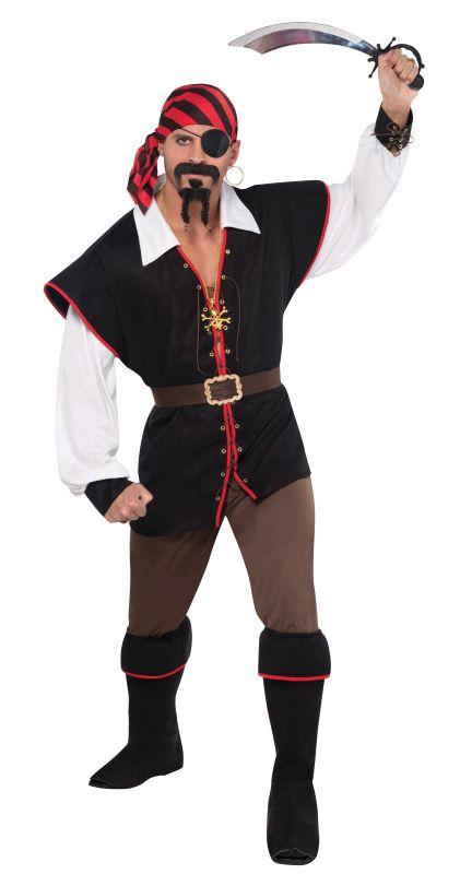 Men's Rebel Of The Sea Pirate Fancy Dress Costume