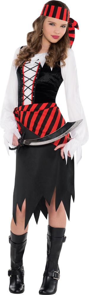 Girls Teen Bucaneer Beauty Pirate Fancy Dress Costume