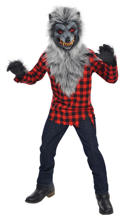 SALE! Teen Wolf Hungry Howler Boys Halloween Horror Fancy Dress Costume Outfit Thumbnail 1