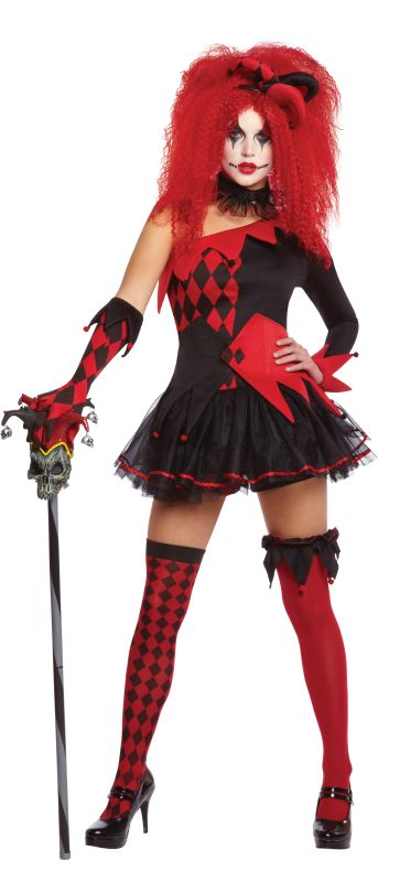 Women's Jesterina Fancy Dress Costume