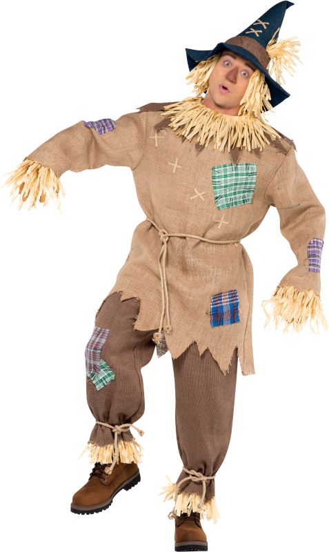 Men's Mr Scarecrow Fancy Dress Costume