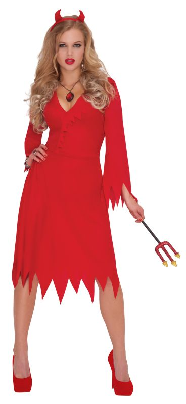 SALE! Adult Sexy Red Hot Devil Ladies Halloween Party Fancy Dress Costume Outfit