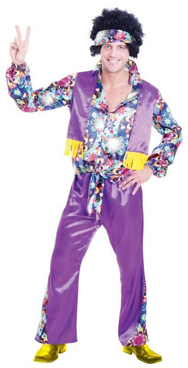 Men's 70s Groovy Guy Fancy Dress Costume  Thumbnail 1