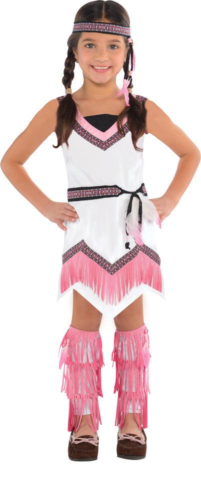 Girls Native American Spirit Fancy Dress Costume