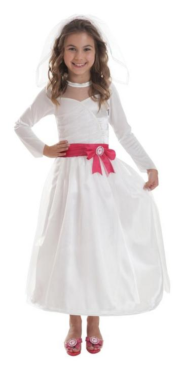 Girls Barbie Bride Fancy Dress Costume  Thumbnail 1