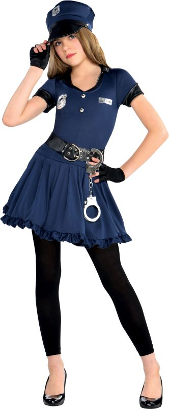 Girls Cop Cutie Fancy Dress Costume