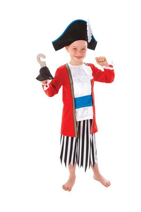 Boys Captain Pirate Fancy Dress Costume  Thumbnail 1