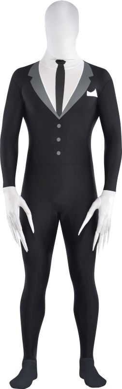 Boys Slender Man Party Suit fancy Dress  Costume