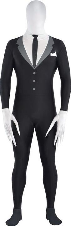 Boys Slender Man Party Suit fancy Dress  Costume  Thumbnail 1